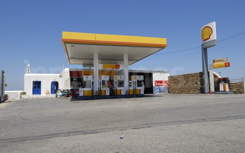 The Closest Shell Gas Station To My Location >> Shell Gas Station Travelling In Mykonos Mykonos Cyclades Greece
