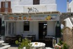 Pizza Latina - Mykonos Fast Food Place with fast food menu style