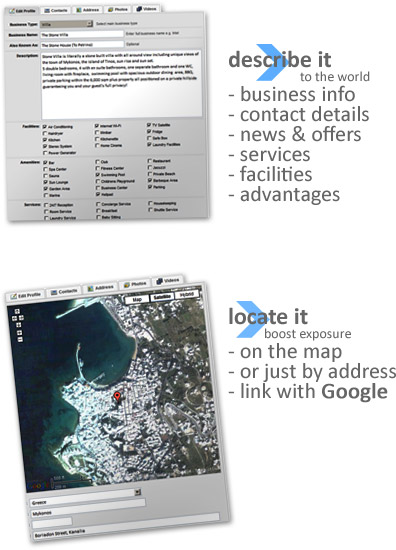 Describe and Locate your Business