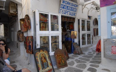 Workshop of Silver Icons Georgiadis - _MYK1210 - Mykonos, Greece